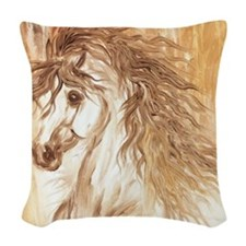 Desert Arabian Horse LRG Woven Throw Pillow