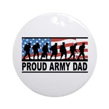 Proud Army Dad Ceramic Ornament
