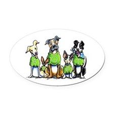 Adopt Shelter Dogs Oval Car Magnet