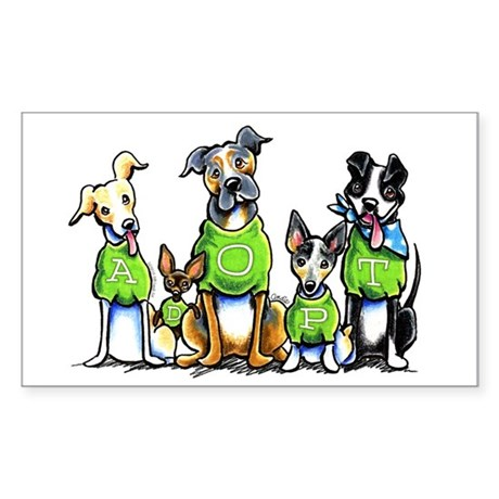 CafePress Adopt Shelter Dogs Sticker