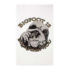 Bigfoot is Squatchin you 3'x5' Area Rug