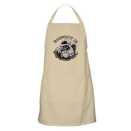 Bigfoot is Squatchin you Apron
