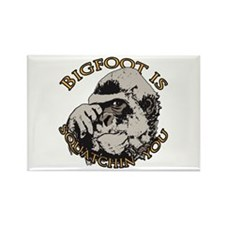 Bigfoot is Squatchin you Rectangle Magnet (10 pack