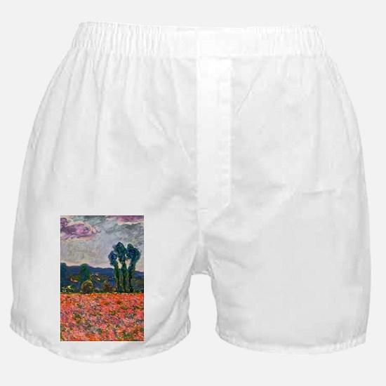 Monet - Poppy Field Boxer Shorts