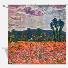 Monet - Poppy Field Shower Curtain
