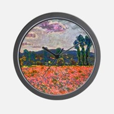 Monet - Poppy Field Wall Clock