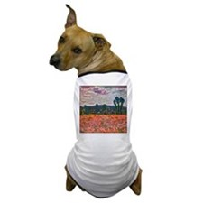 Monet - Poppy Field Dog T-Shirt