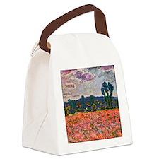 Monet - Poppy Field Canvas Lunch Bag