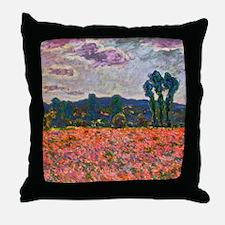 Monet - Poppy Field Throw Pillow