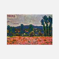 Monet - Poppy Field Rectangle Magnet