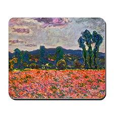 Monet - Poppy Field Mousepad