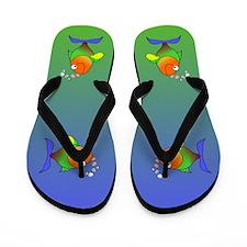 Rainbow Fish Flip Flops