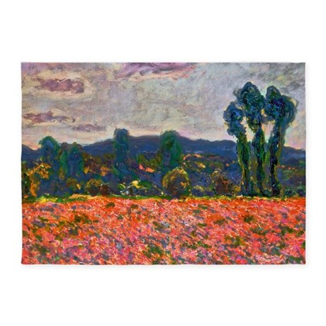 Monet - Poppy Field 5'x7'Area Rug