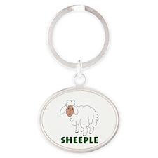 Sheeple part sheep part human Keychains