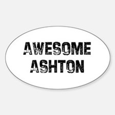 Awesome Ashton Oval Decal