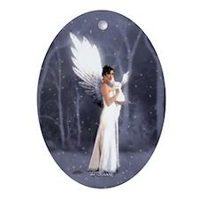 A Winter's Night Oval Ornament