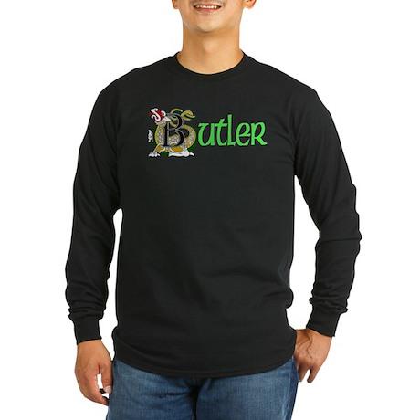 Butler Celtic Dragon Long Sleeve Dark T-Shirt
