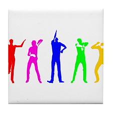 Techno Dancing Tile Coaster