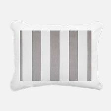 Manly Gray stripes Rectangular Canvas Pillow
