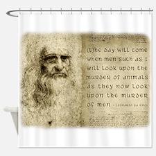 Da Vinci Animal Quote Shower Curtain