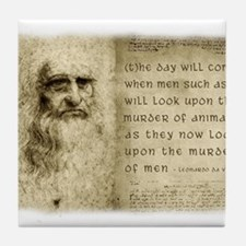 Da Vinci Animal Quote Tile Coaster