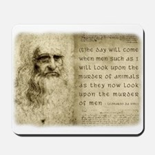 Da Vinci Animal Quote Mousepad