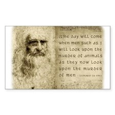 Da Vinci Animal Quote Decal