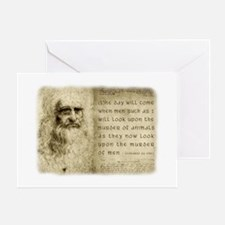 Da Vinci Animal Quote Greeting Card