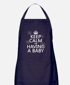 Keep Calm I'm Having A Baby Apron (dark)