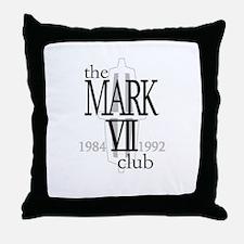 The Lincoln Mark VII Club Logo Throw Pillow