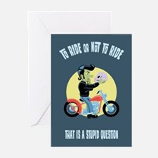 To Ride or Not to Ride Greeting Cards (Pk of 10)
