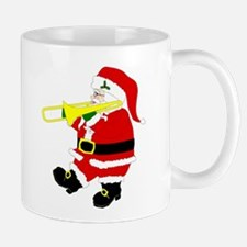 Santa Plays Trombone Christmas Mug