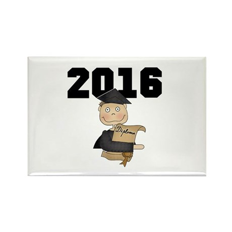 Boy Graduate 2014 Black Rectangle Magnet