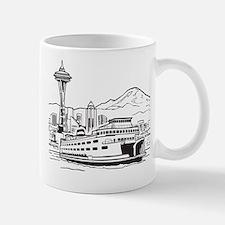 Space Needle and Ferry Mug