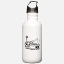 Space Needle and Ferry Water Bottle