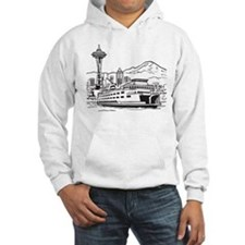 Space Needle and Ferry Hoodie