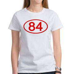 Number 84 Oval Women's T-Shirt