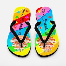 FESTIVE 75TH Flip Flops