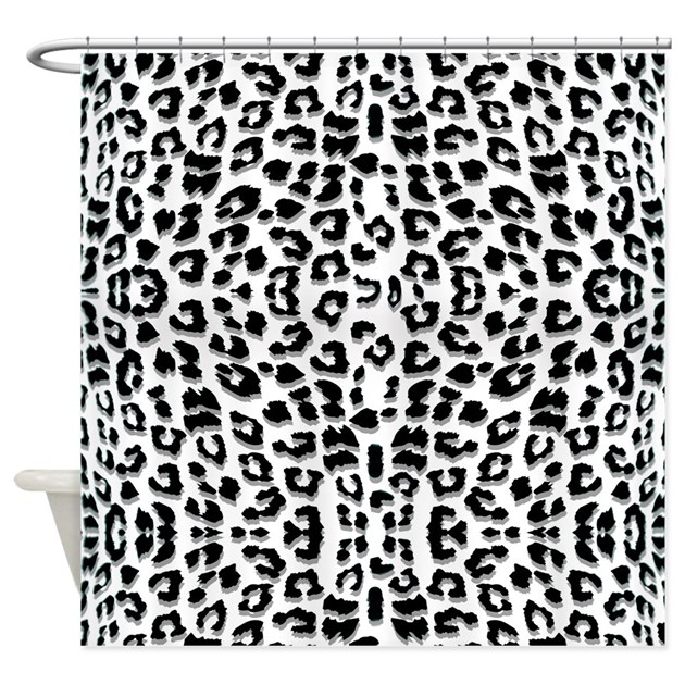 snow leopard print shower curtain by cutetoboot