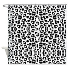 Snow Leopard Print Shower Curtain