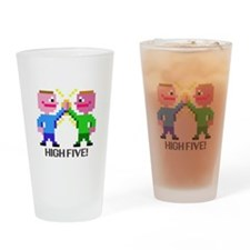 high five! drinking glass