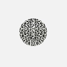 Snow Leopard Print Mini Button
