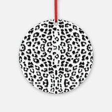 Snow Leopard Print Ornament (Round)