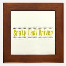 Crazy Taxi Driver Framed Tile