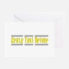 Crazy Taxi Driver Greeting Cards (Pk of 10)