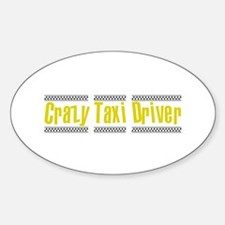 Crazy Taxi Driver Oval Decal