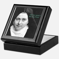 Words from Sainte Thérèse de Lisieux Keepsake Box