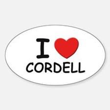 I love Cordell Oval Decal