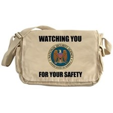 Watching You For Your Safety Messenger Bag