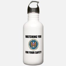 Watching You For Your Safety Water Bottle